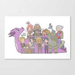 Dragon Age - Origins Companions Canvas Print