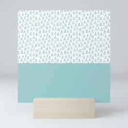 Triangles Mint Mini Art Print