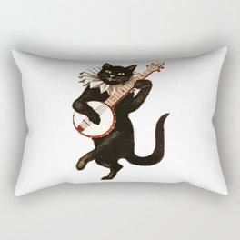 Black Halloween Cat for Decor and T Shirts Rectangular Pillow