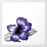Purple flower Art Print