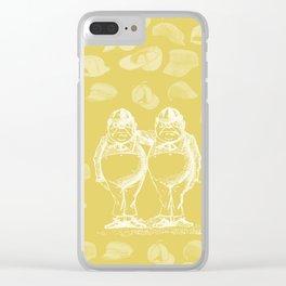 Tweedledum, Tweedledee and Caps Clear iPhone Case