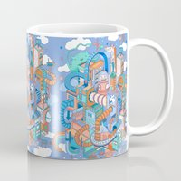 kpop Mugs featuring George's place by Polkip