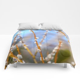 Willow Catkins Blue Sky Spring Mood Comforters