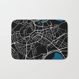 Tallinn city map black colour Bath Mat