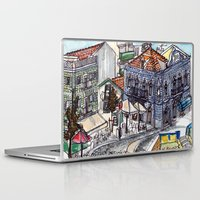 portugal Laptop & iPad Skins featuring Buarcos, Portugal by Claire Nelson-Esch