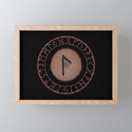 Laguz Elder Futhark Rune of the unconscious context of becoming or the evolutionary process Framed Mini Art Print