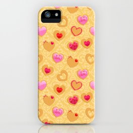 Valentine's day heart shaped cookies iPhone Case