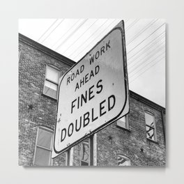 Fines Doubled Metal Print