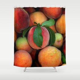 Peachy Peaches Shower Curtain