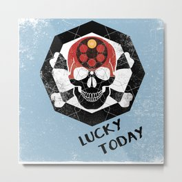 lucky today russian roulette Metal Print