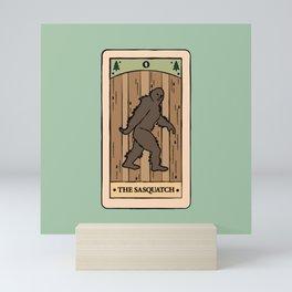 The Sasquatch - Cryptid Tarot Card Mini Art Print