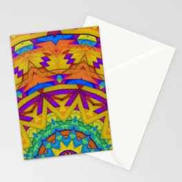 Colorful Geometry Stationery Cards