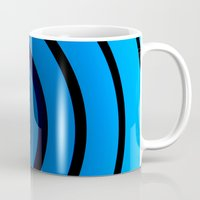 james bond Mugs featuring Bond Man by Steve Purnell