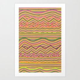Lines Galore Art Print
