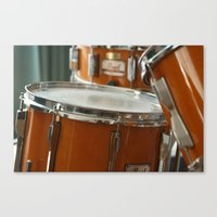 drums Canvas Prints featuring Drums by TilenHrovatic