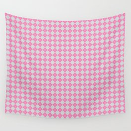 Argyle Pattern | Pink and Grey Wall Tapestry