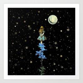 Wonderland Sky Viewing Time - Alice In Wonderland Art Print