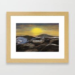 Sunrise from the top of Kilimanjaro Framed Art Print
