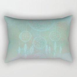Aqua Dreamcatcher Rectangular Pillow