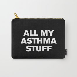 All My Asthma Stuff (Black) Carry-All Pouch