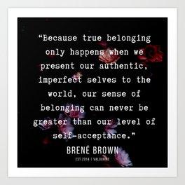 29  | Brene  Brown Quotes  | 190717 | Art Print