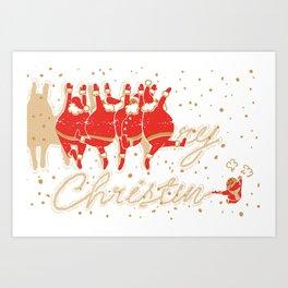Santa Claus & Me Art Print