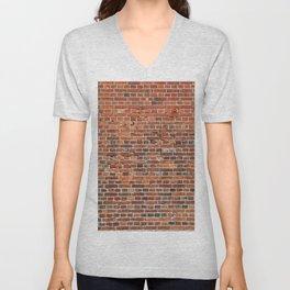 Brick Unisex V-Neck