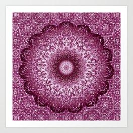 Cabernet Lace Mandala Art Print