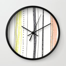 sketchy stripes Wall Clock