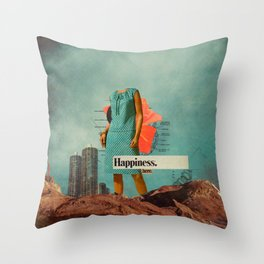 Happiness Here Throw Pillow