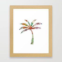 Palm Tree Fabric Framed Art Print