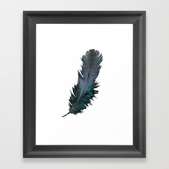 Feather - Enjoy the difference! Framed Art Print