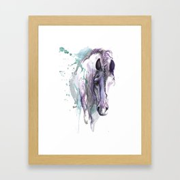 horse with braided mane Framed Art Print