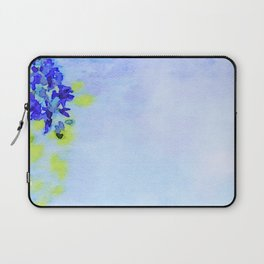 Watercolor of Spring background with blooming wisteria. Beautiful pink flowers Laptop Sleeve