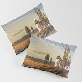 Point Betsie Lighthouse at Sunset Pillow Sham