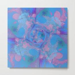 Blue Abstract Globe Design Metal Print