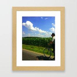Get home before dinner Framed Art Print