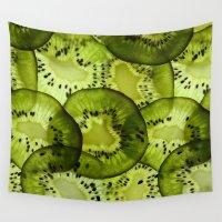 kiwi Wall Tapestries featuring kiwi by Claudia Araujo