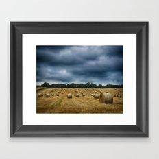 straw bales Framed Art Print