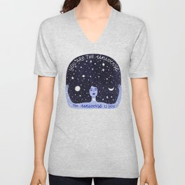 You are the universe Unisex V-Neck