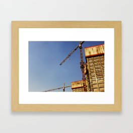 Construction Framed Art Print