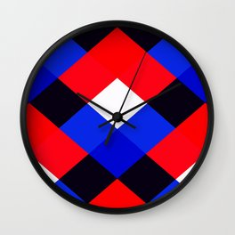 Red, White and Blue - 3 Wall Clock