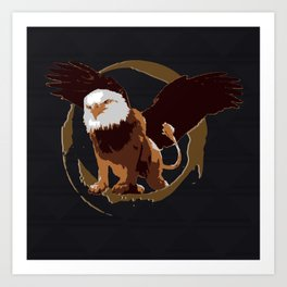 Griffin Shield Art Print