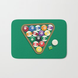 Billiard Balls Rack - Boules de billard Bath Mat