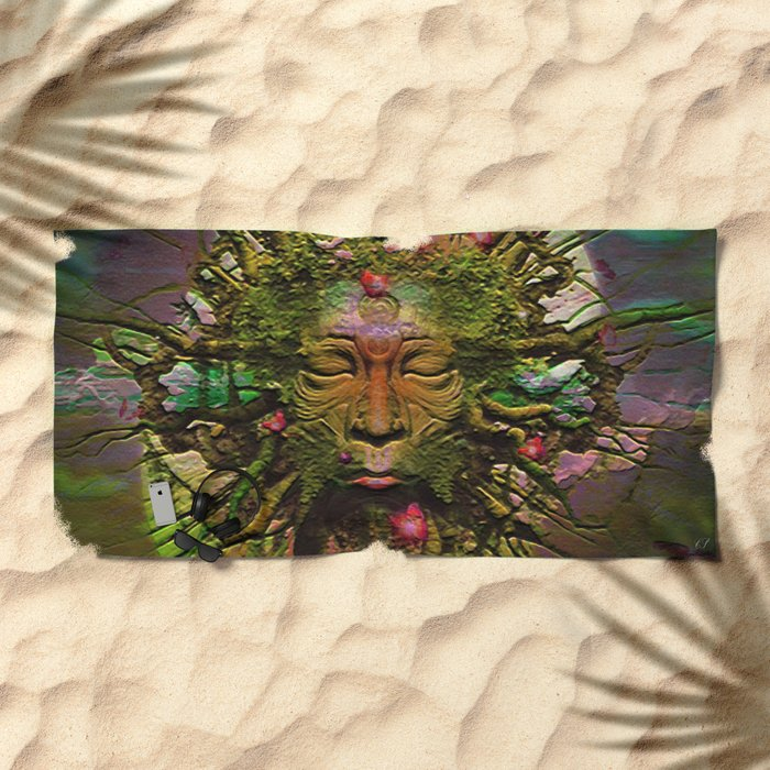 """ The nature acts, the man makes. "" Beach Towel"