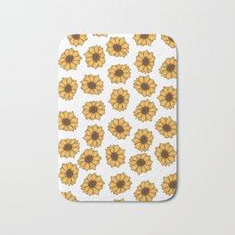 lil' anxious sunflowers Bath Mat