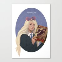 luna lovegood Canvas Prints featuring luna lovegood by Sara Meseguer