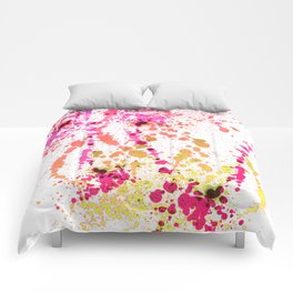 Uplifting Heat - Abstract Splatter Style Comforters
