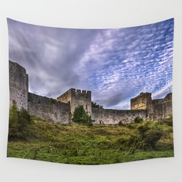Chepstow Castle Walls Wall Tapestry