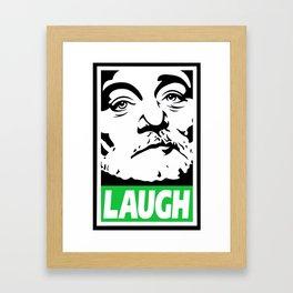 Bill Murray laugh  Framed Art Print